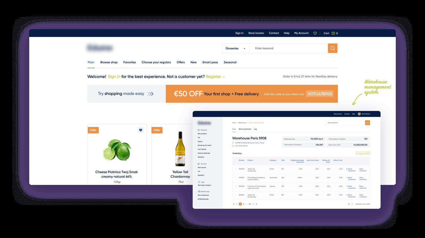 Online grocery platforms